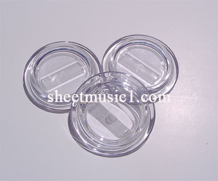 clear piano caster cups