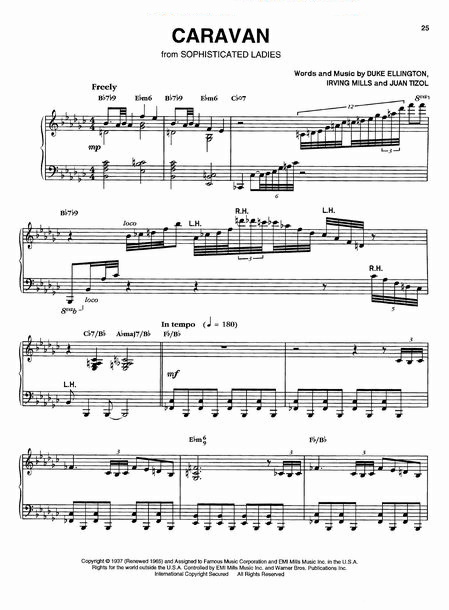 Jazz Piano Sheet Music