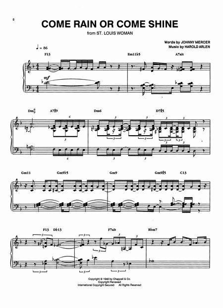 Jazz Piano Transcriptions - Recommended Jazz Advanced Piano